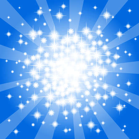 illustration of a abstract blue star background  Vector