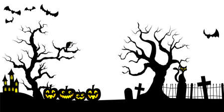 illustration of a spooky halloween background Vector