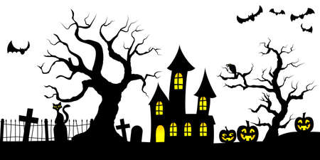 vector illustration of a spooky halloween background Illustration