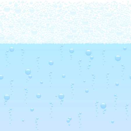 vector illustration of a horizontally seamless bubbling background Vector