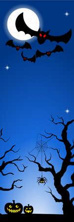 illustration of bats in a full moon night Vector