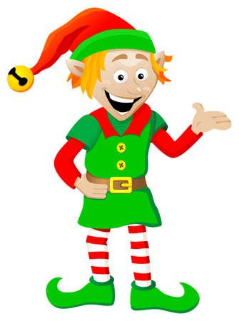 白い背景の上のクリスマスのエルフのベクトル イラスト 写真素材 - 22971784
