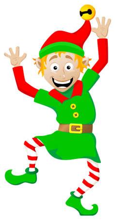 白い背景の上のクリスマスのエルフのベクトル イラスト 写真素材 - 22971785