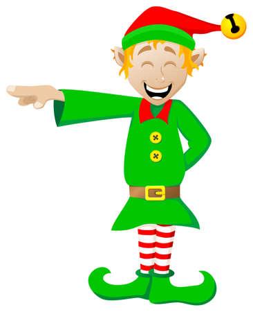 Vektor-Illustration eines Weihnachtself auf weißem Hintergrund Standard-Bild - 22974166