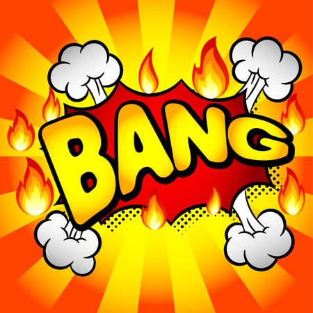bursting: vector illustration of a cartoon text explosion