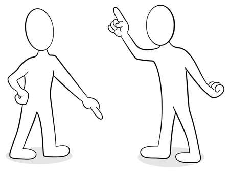vector illustration of two people are of different opinion Illustration