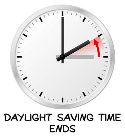 illustration vectorielle d'un retour d'horloge à des fins de gain de temps de jour de temps standards