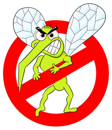vector illustration of a mosquito warning sign Vector