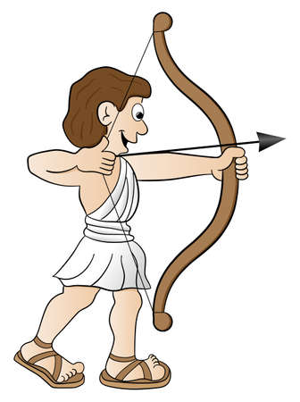 bowman: vector illustration of a zodiac sign - sagittarius