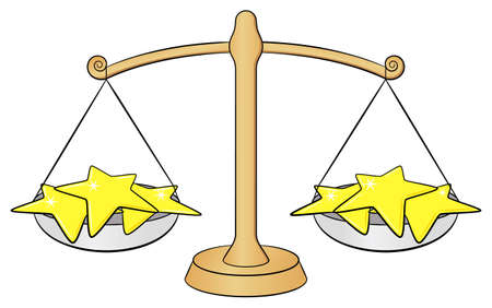 weighing scales: vector illustration of a zodiac sign - libra
