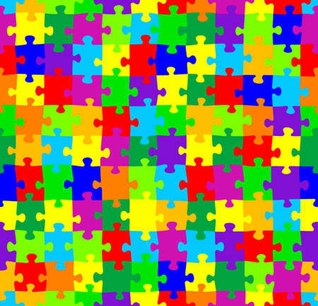 vector illustration of a seamless jigsaw puzzle pattern Vector