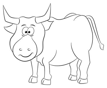 longhorn cattle: vector illustration of a zodiac sign -  taurus Illustration