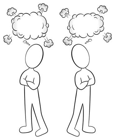 illustration of two people are of different opinion Stock Vector - 28503509