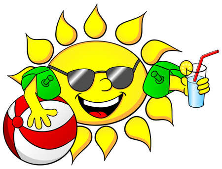 Abbildung der Sonne in den Sommerferien Standard-Bild - 28503519