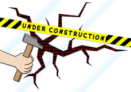 under construction sign: illustration of a under construction sign