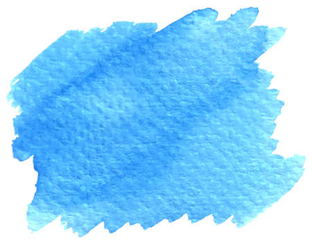 vector illustration of a blue watercolor brushstroke