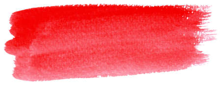 vector illustration of a red watercolor brushstroke