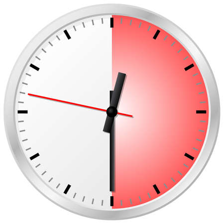 metering: vector illustration of a timer with 30 (thirty) minutes