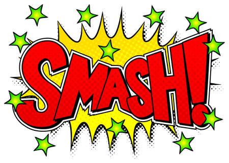 vector illustration of a comic sound effect smash Ilustração