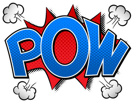 outburst: vector illustration of a comic sound effect pow