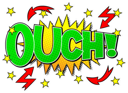 outburst: vector illustration of a comic sound effect ouch