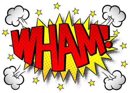 outburst: illustration of a comic sound effect wham