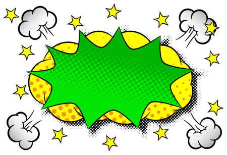 illustration of a comic sound effect crash Stock Illustratie