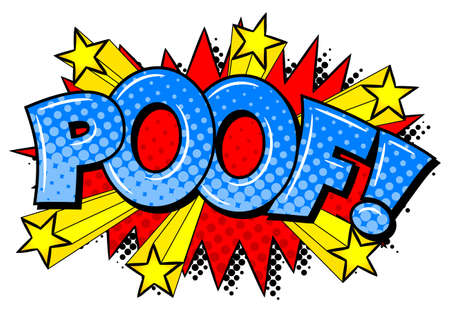 blowup: vector illustration of a comic sound effect poof