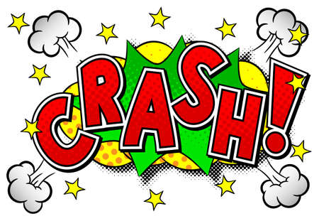 blowup: vector illustration of a comic sound effect crash