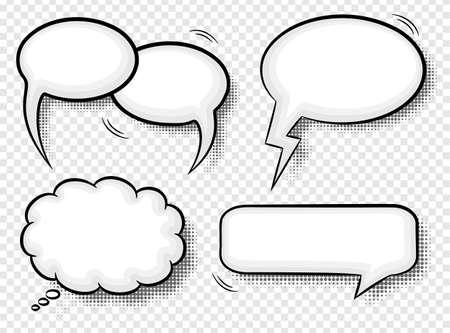 vector illustratie van een verzameling van komische stijl tekstballonnen
