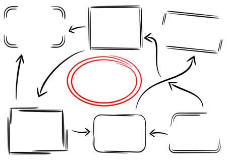 vector illustration of frames and arrows Stock Illustratie