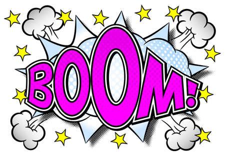 vector illustration of a comic sound effect boom Иллюстрация