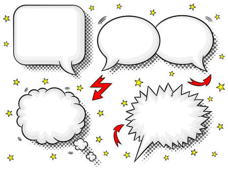 dialog balloon: vector illustration of a collection of comic style speech bubbles