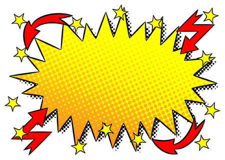 blowup: vector illustration of a comic sound effect ouch