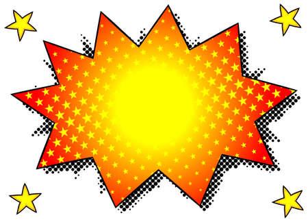 bursting: vector illustration of a comic sound effect crunch
