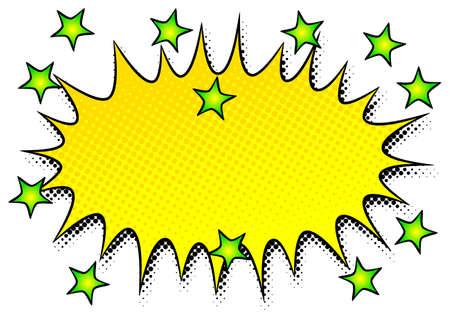illustration of a comic sound effect smash Ilustração