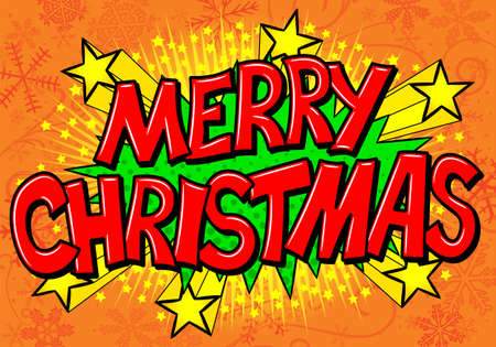 outburst: vector illustration of a Merry Christmas comic speech bubble