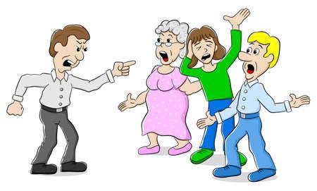 personas discutiendo: ilustraci�n vectorial de muchas personas que discuten con uno Vectores