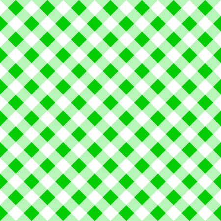 tablecloth: vector illustration of a seamless pattern of a green white plaid tablecloth