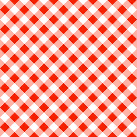 tablecloth: vector illustration of a seamless pattern of a red white plaid tablecloth