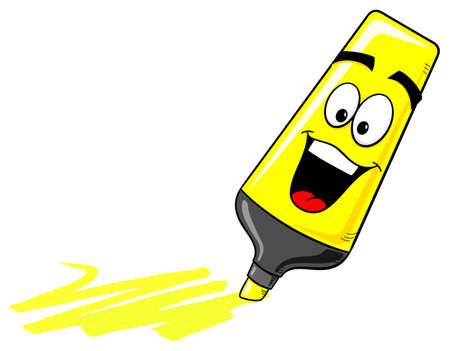 rotulador: ilustración vectorial de dibujos animados rotulador sobre blanco