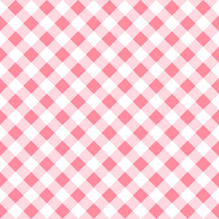 tablecloth: vector illustration of a seamless pattern of a pink white plaid tablecloth Illustration