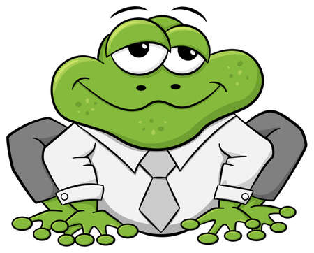 froggy: vector illustration of a business frog with shirt and tie Illustration
