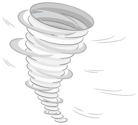 hurricane disaster: vector illustration of a tornado on white background