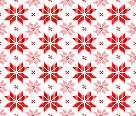 vector illustration of a seamless knitting pattern