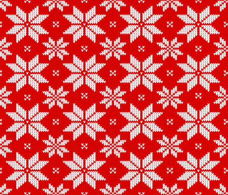 knitting: vector illustration of a seamless knitting pattern