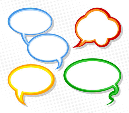discussion: vector illustration of a collection of comic style speech bubbles