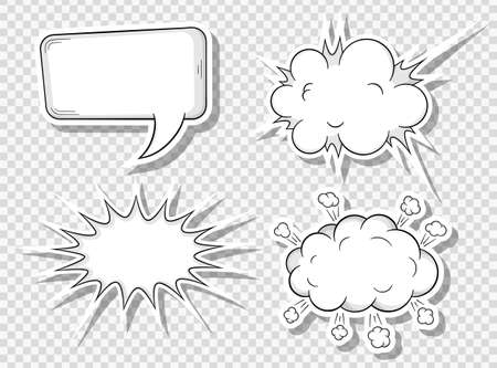 talking: vector illustration of a collection of comic style speech bubbles