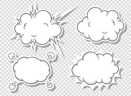 burbuja: ilustraci?ectorial de una colecci?e burbujas de discurso de estilo comic