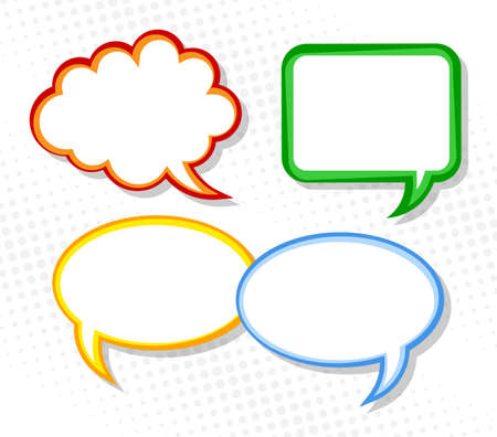 cartoon cloud: vector illustration of a collection of comic style speech bubbles